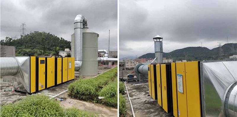 宝恒环保废气处理工程——横岗注塑废气处理工程