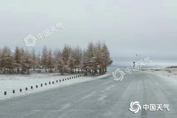 内蒙古霜降遇暴雪和巨幅降温 各色预警齐连发